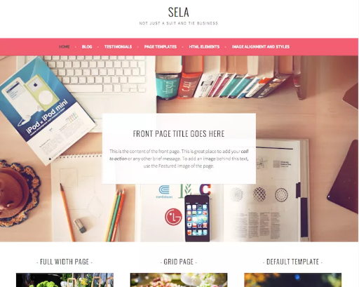 Best free wordpress business theme sela wordpress best plugin sela has lots of awesome features including responsive design cool front page template custom background custom colors custom header custom menu cheaphphosting Images